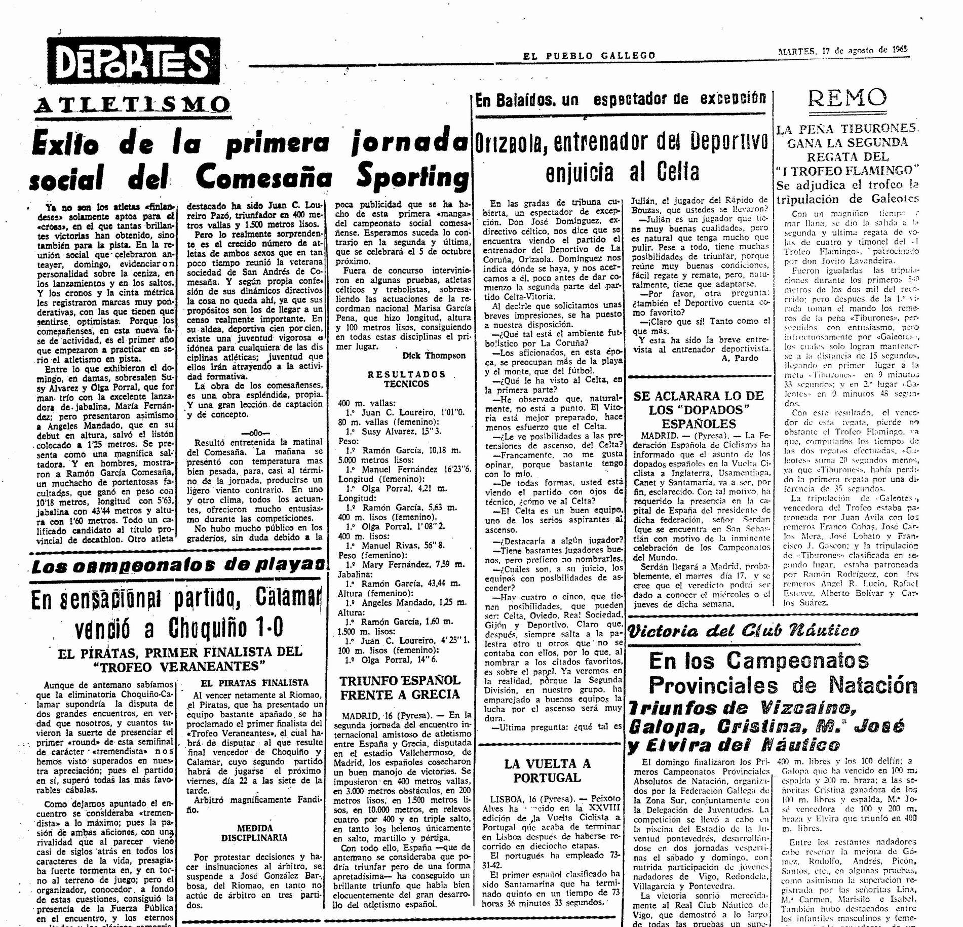 El Pueblo Gallego 17-08-1965